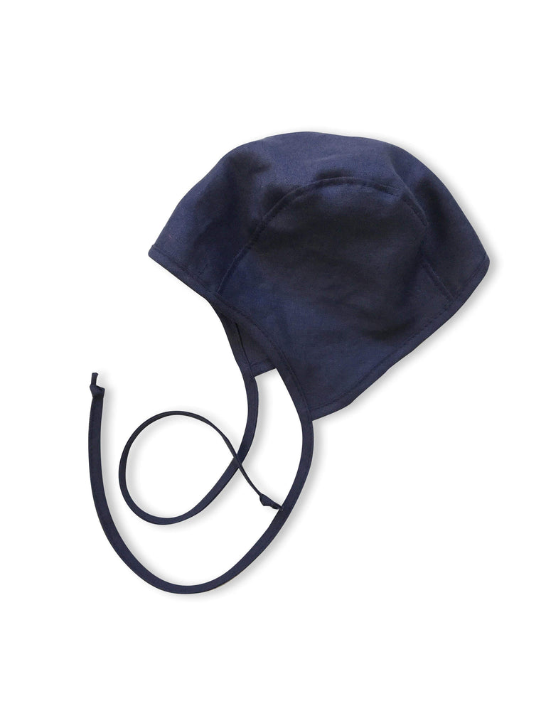 mabo bonnet - blueberry linen