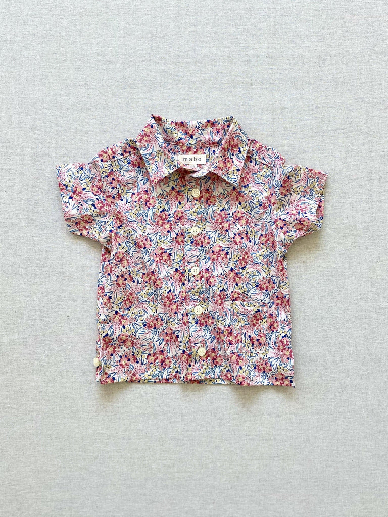 mabo buttondown shirt in swirling petals floral