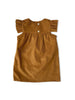 mabo chloe dress in deep ochre corduroy