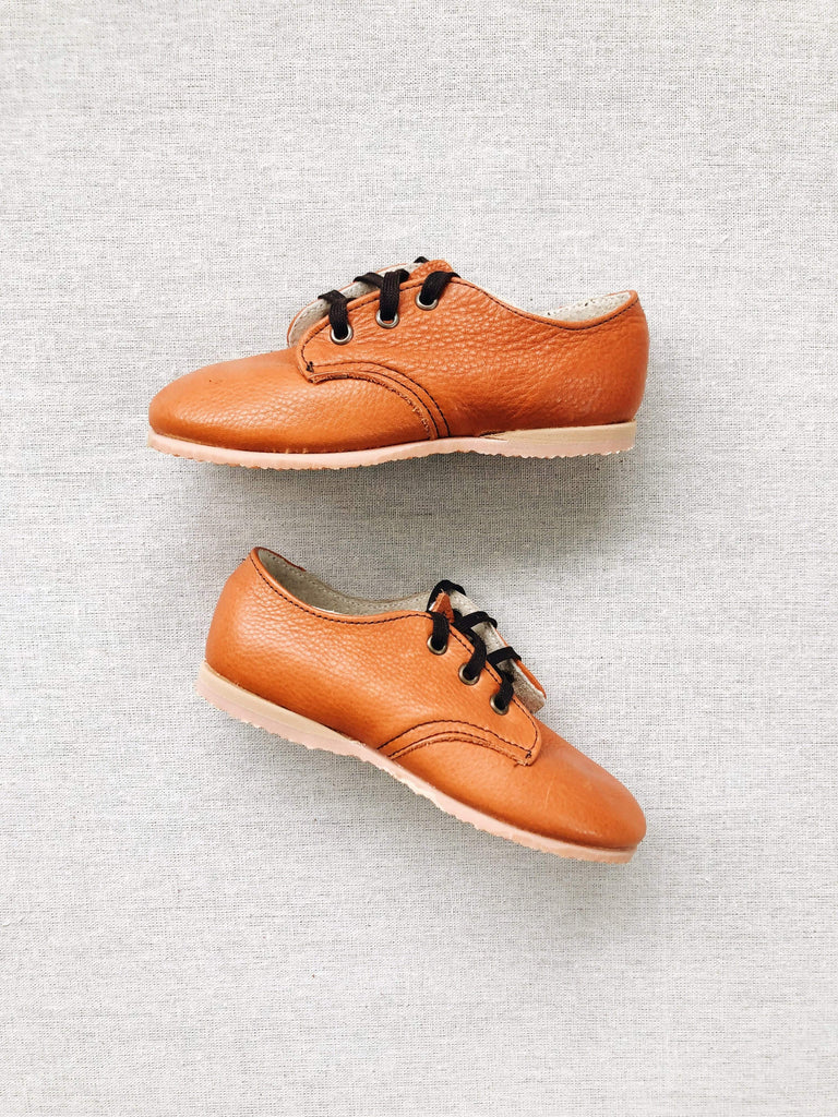 mabo derby shoes in honey leather