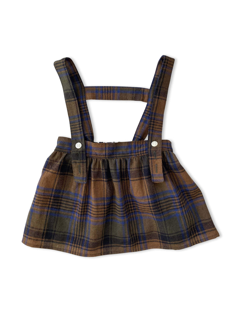 mabo esme suspender skirt in autumnal plaid