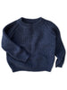 mabo fisherman rib pullover sweater in indigo