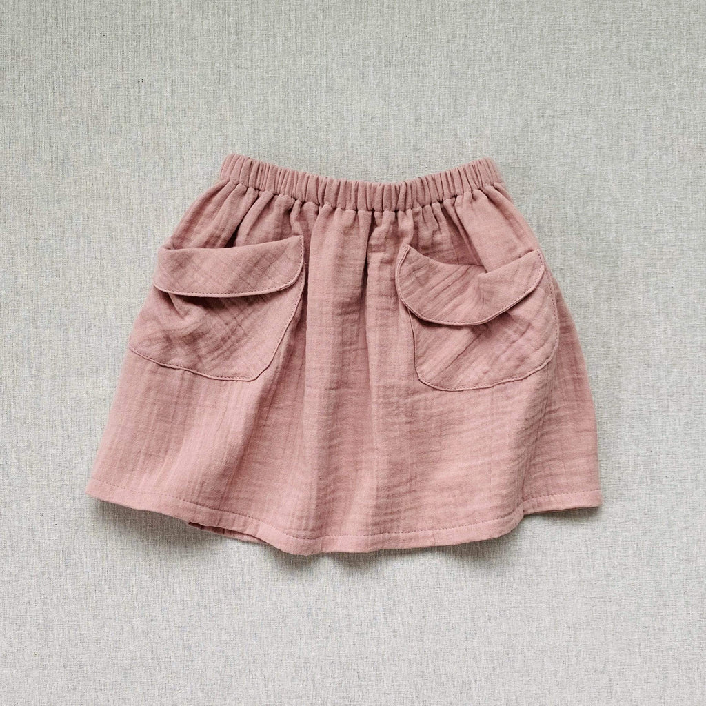 mabo frances midi beach skirt in rose gauze