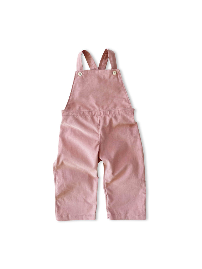 mabo frankie overalls in blush corduroy