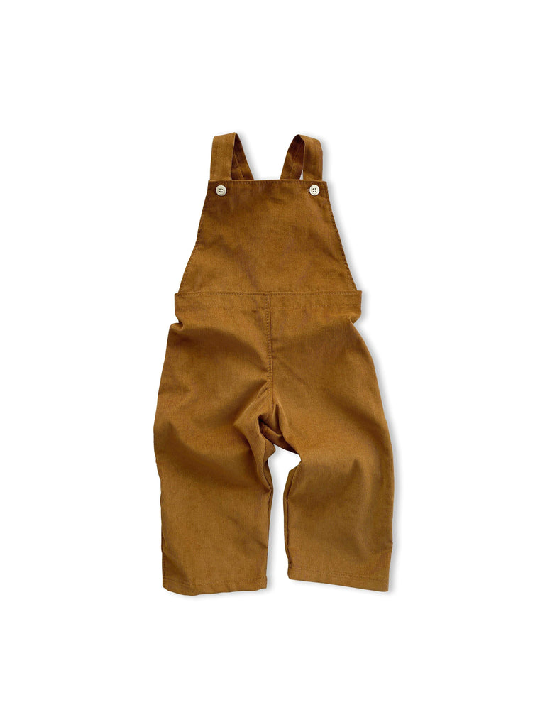 mabo frankie overalls in deep ochre corduroy