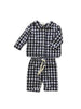 mabo harper set in navy gingham