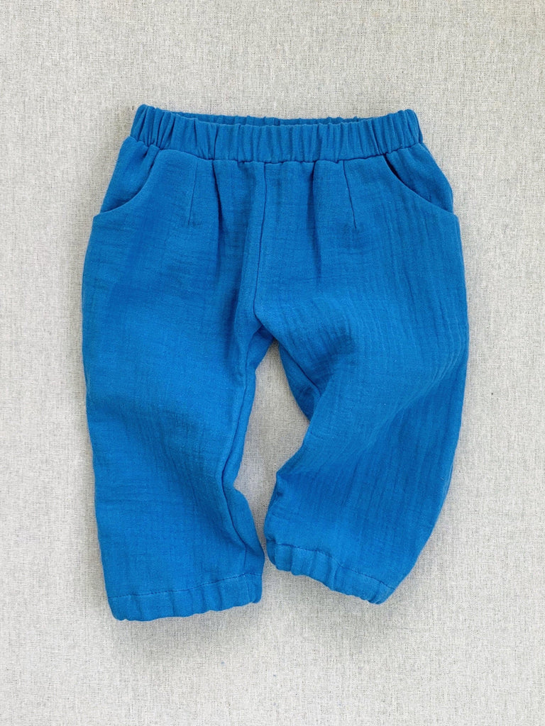 mabo james pant in cobalt gauze