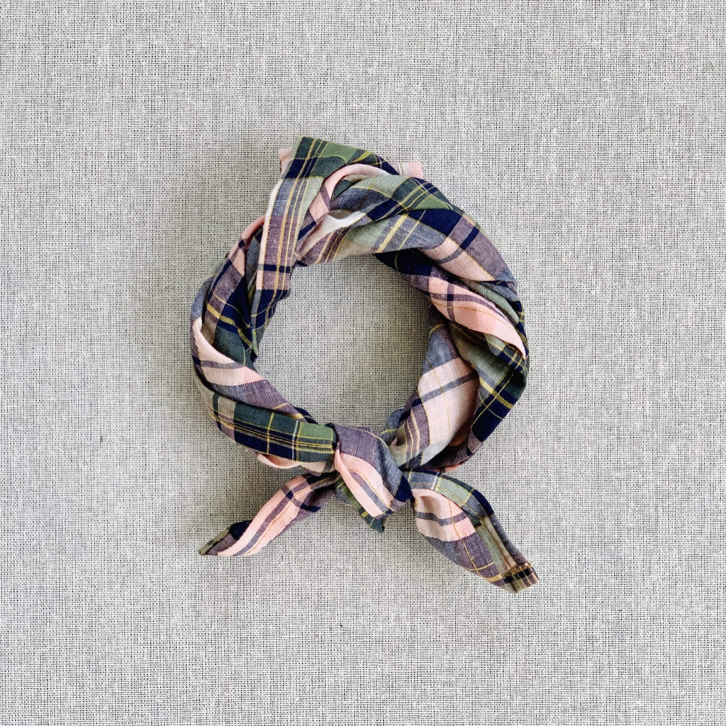 mabo kerchief in pink madras