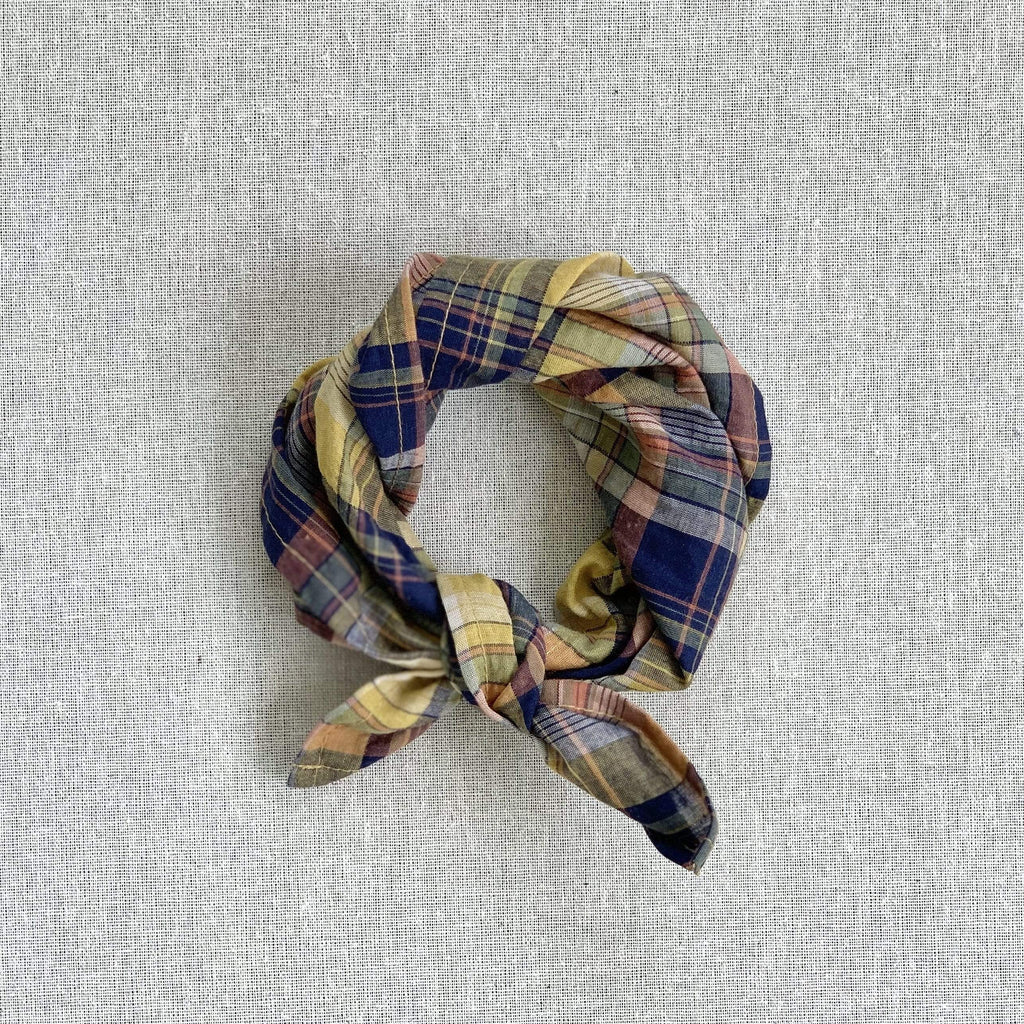 mabo kerchief in spring yellow madras