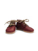 mabo lace-up leather boots in burgundy leather