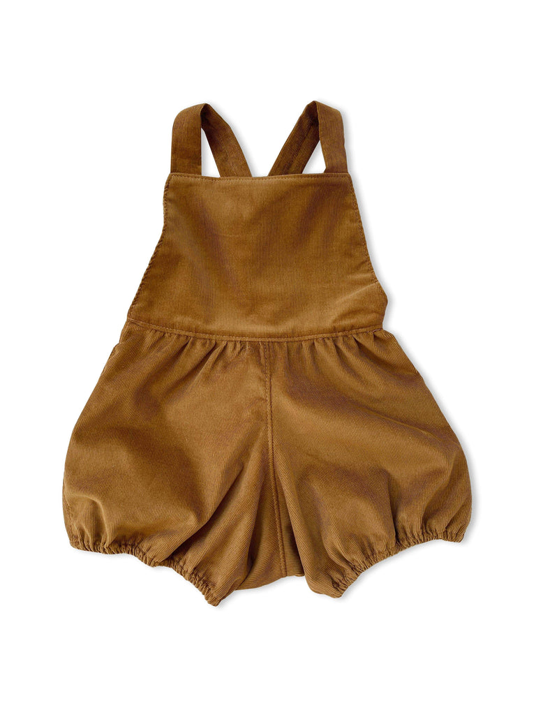 mabo mabel playsuit in deep ochre corduroy