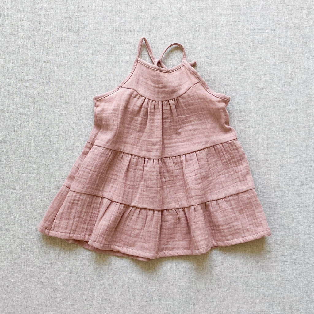 mabo mila sundress in rose gauze