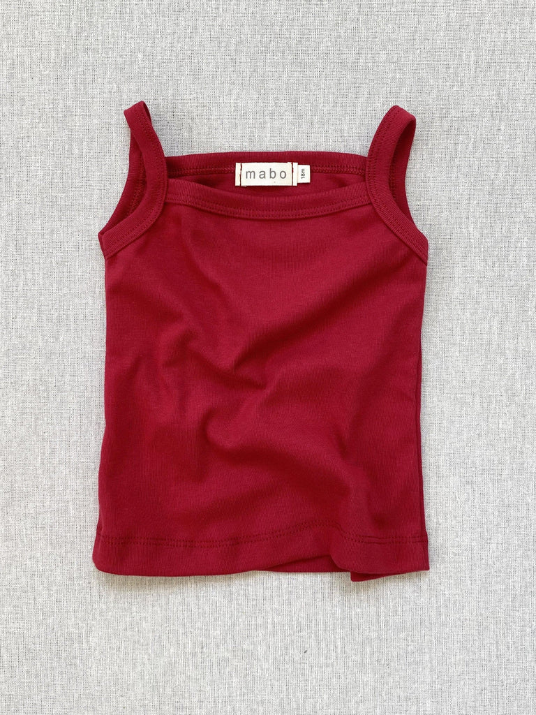 mabo organic cotton camisole - scarlet