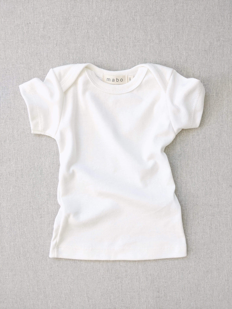 mabo organic cotton lap tee short sleeve - bright white
