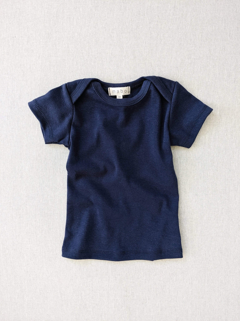 mabo organic cotton lap tee short sleeve - midnight blue