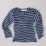 organic cotton striped nautical tees - blue/natural