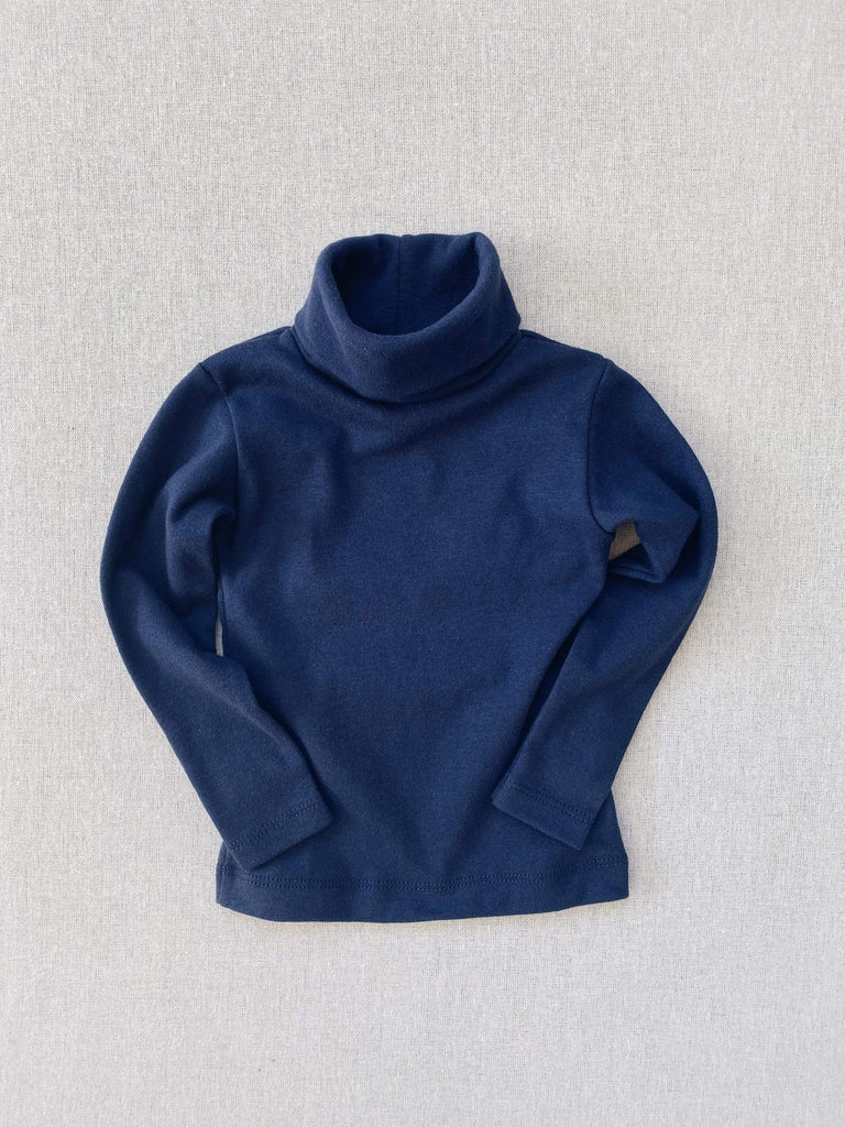 mabo organic cotton turtleneck - midnight
