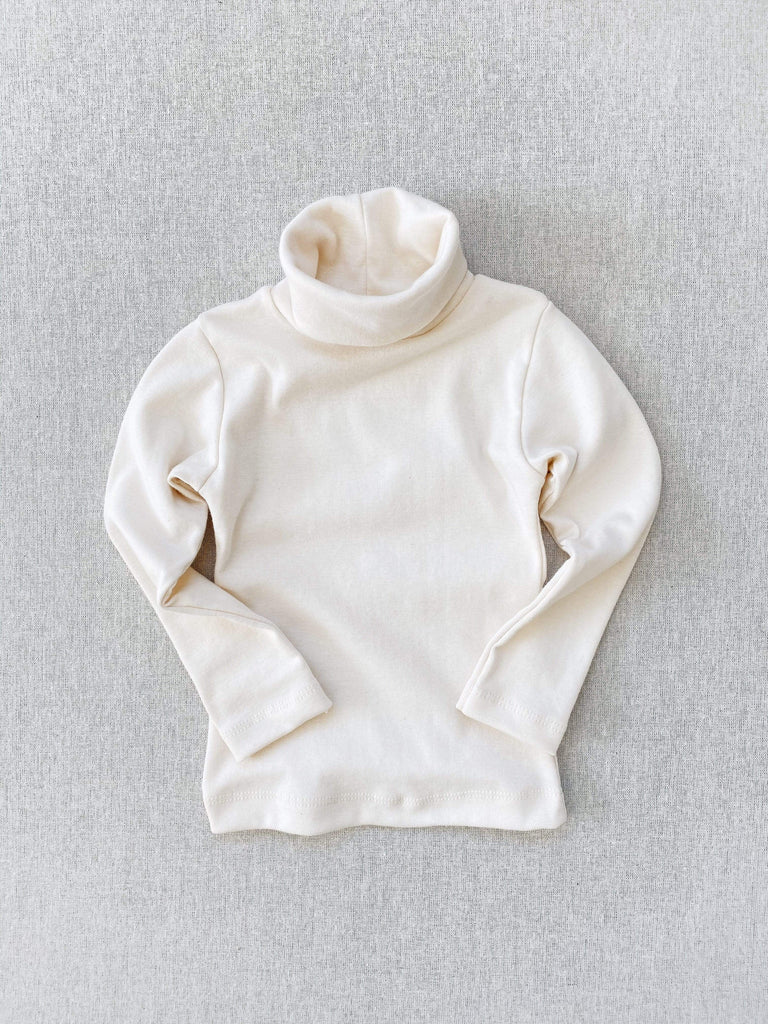 mabo organic cotton turtleneck - natural
