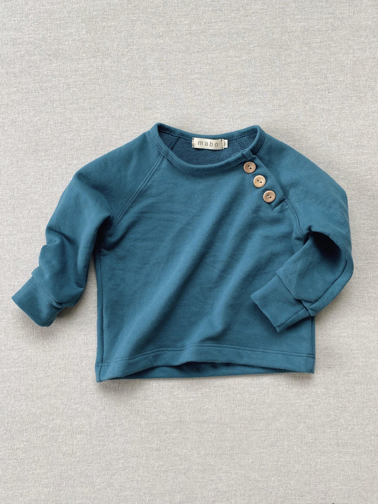 mabo organic french terry sweatshirt - azure