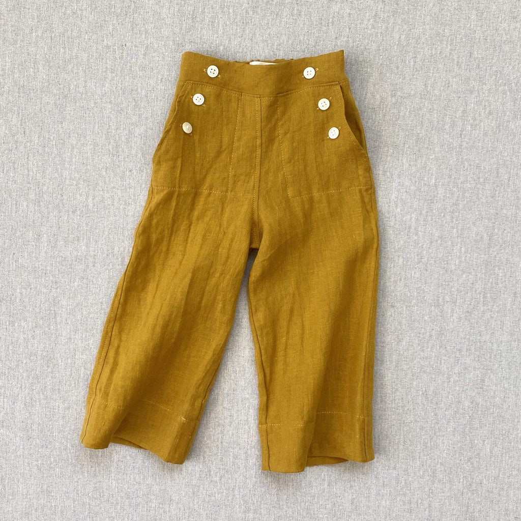 mabo remy pants in golden linen