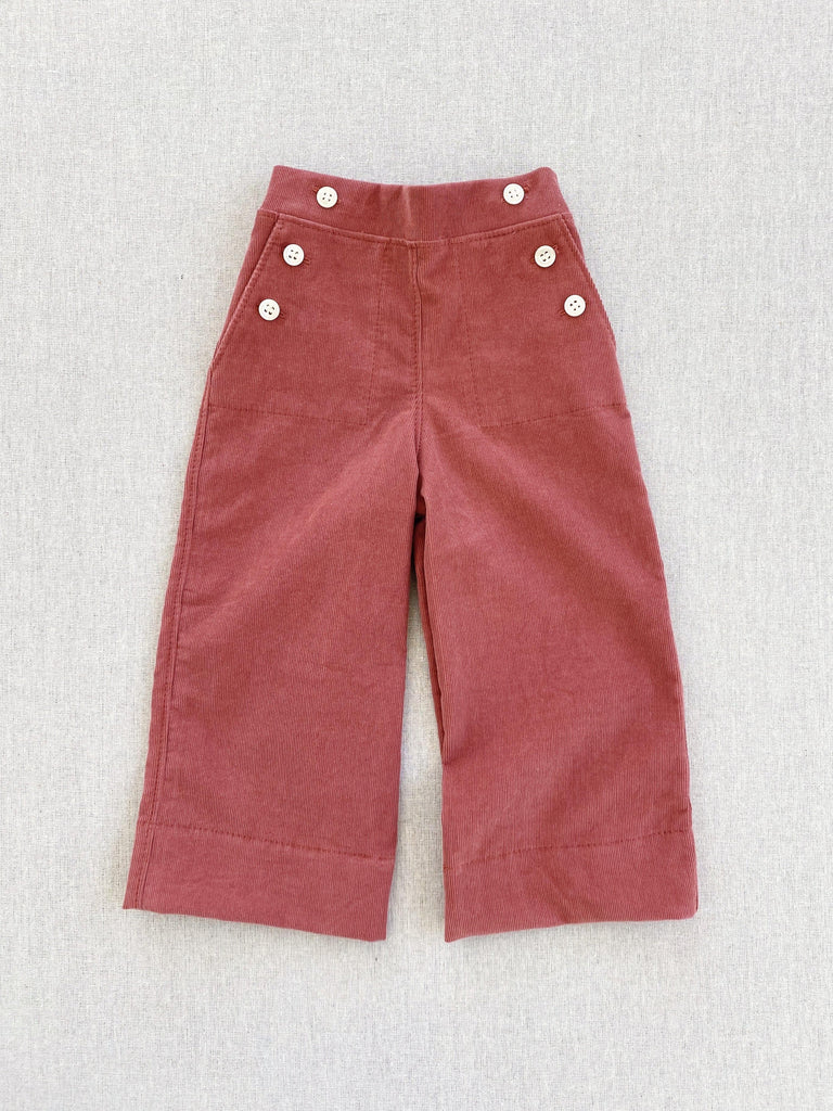 mabo remy pants in mineral red corduroy