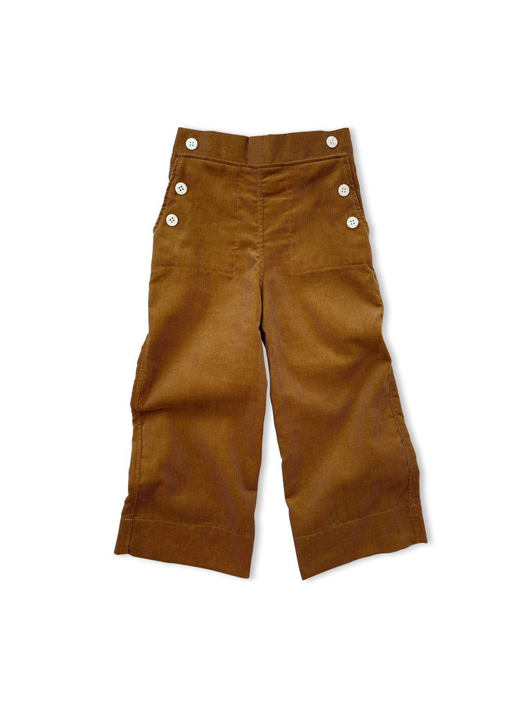 mabo remy sailor pants in deep ochre corduroy