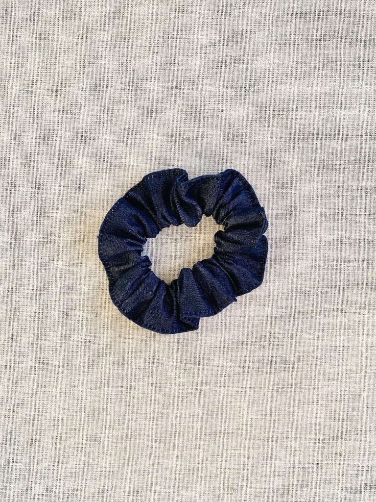 mabo scrunchie in cotton denim
