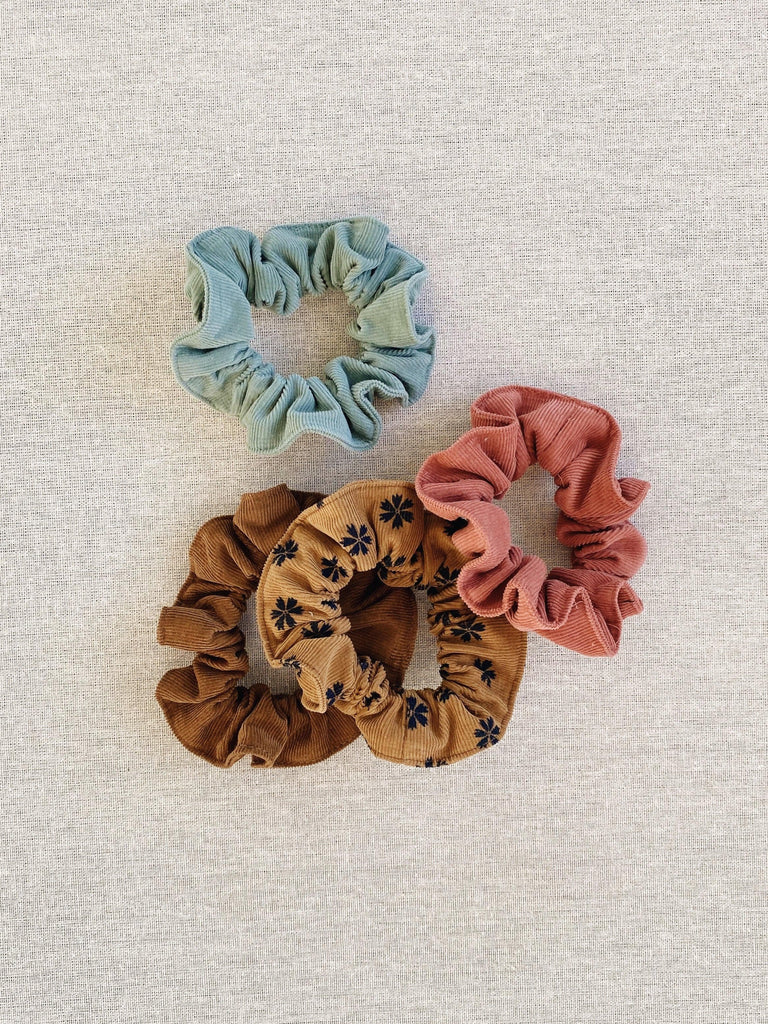 mabo scrunchies in corduroy