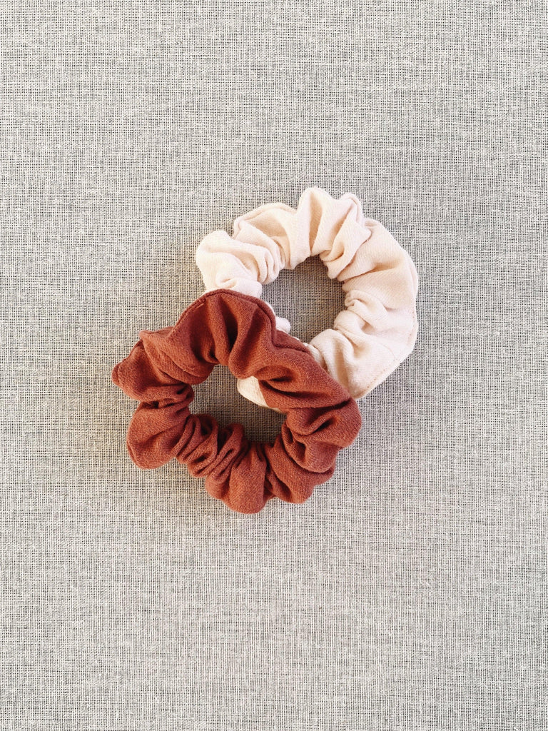 mabo scrunchies in flannel cotton