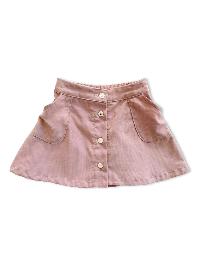 mabo tilda skirt in blush corduroy