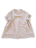 mabo willa dress in blush textured dobby