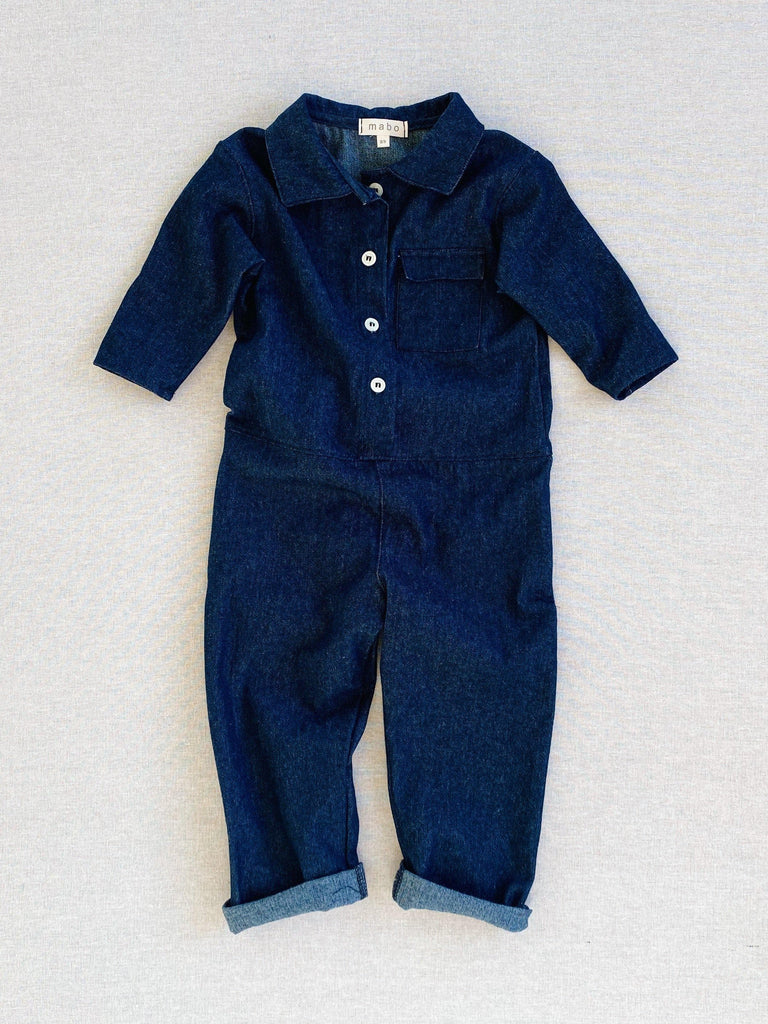 mabo wylie jumpsuit in cotton denim
