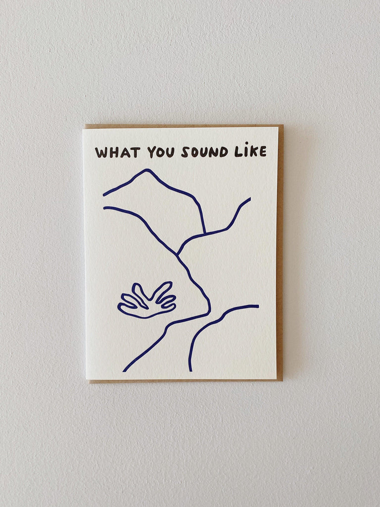 Nicole Monk What You Sound Like Card