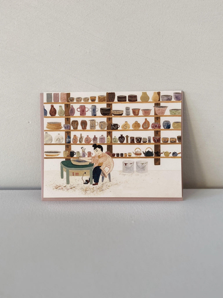 small adventure admiration for you pottery card