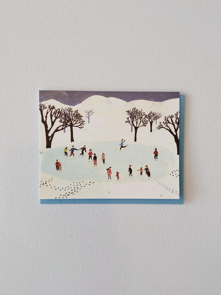 small adventure ice skating card