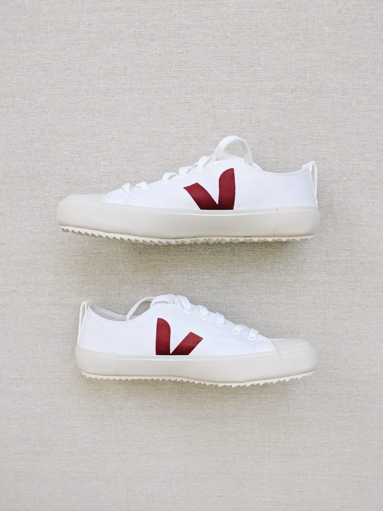 Veja Veja Women Nova Canvas in White Marsala