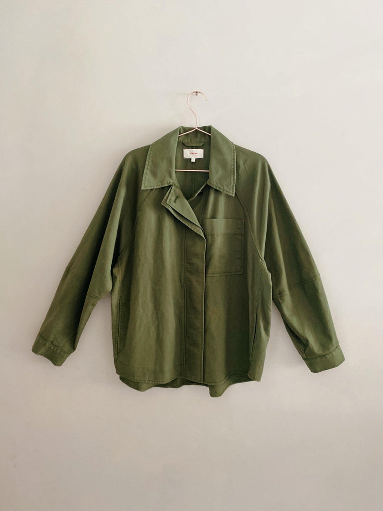xirena leigh twill jacket in surplus