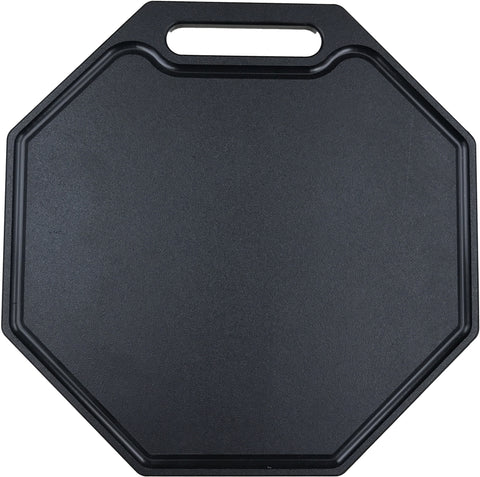 "HDPE Octagon Cutting Board With Dripwell and Handle (1/2"" Thick)"
