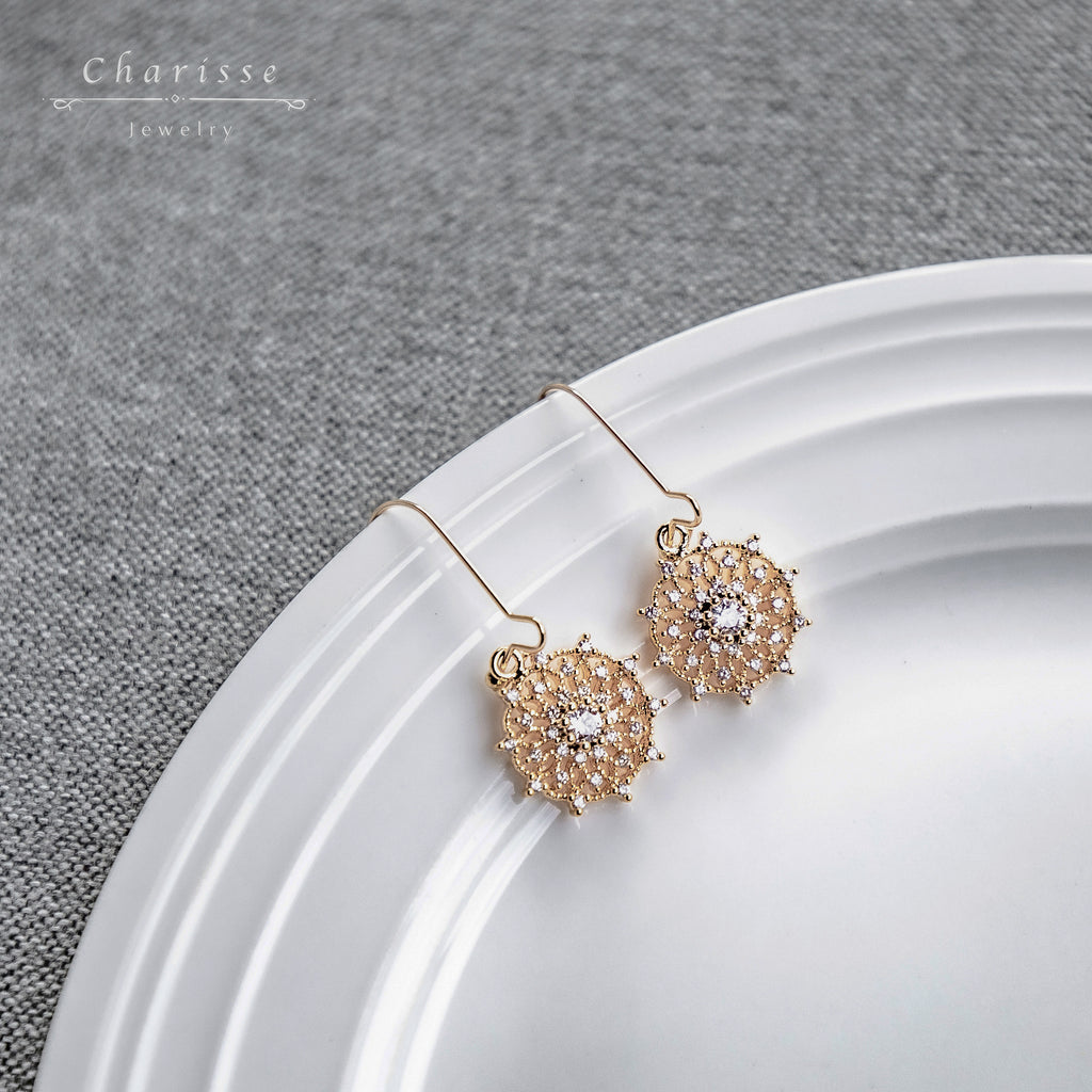 Elaine Dream Catcher CZ Gems Earring