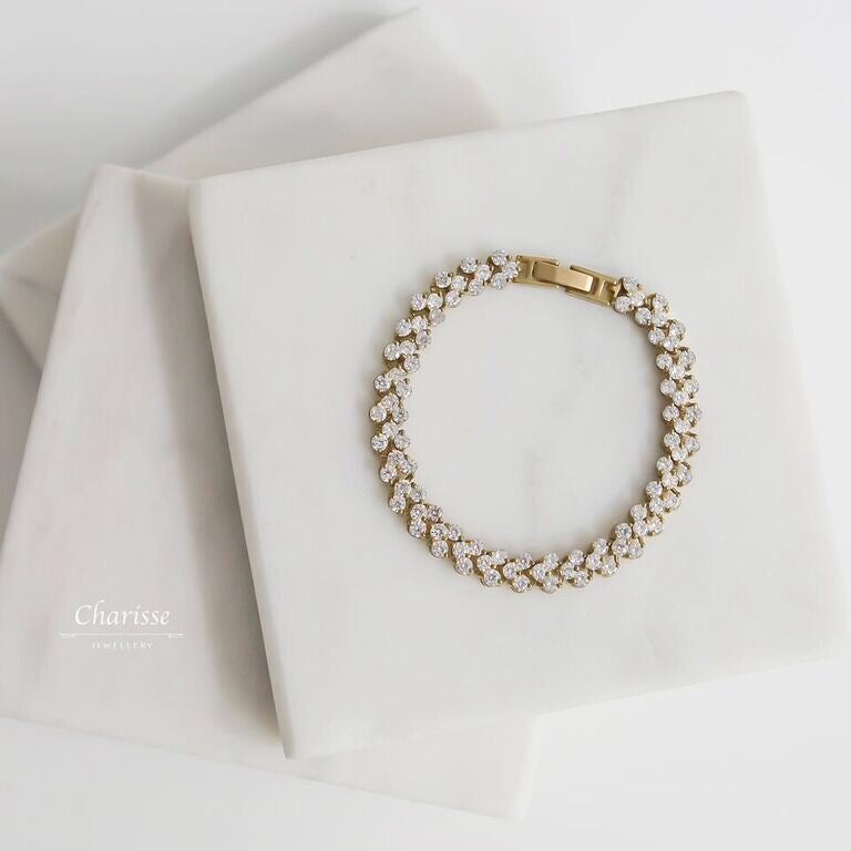 Tabitha CZ Diamond Full Bracelet