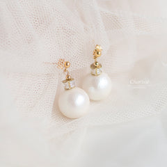 Michelle Japanese Marshmallow Pearl Earrings