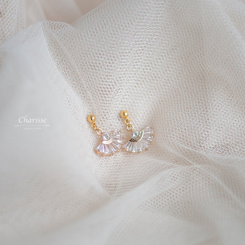 Candace CZ Diamond Fan Earrings