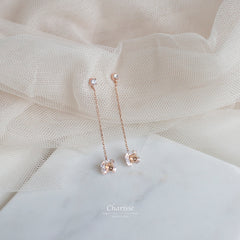 Rachel CZ Diamond Petunia Earrings