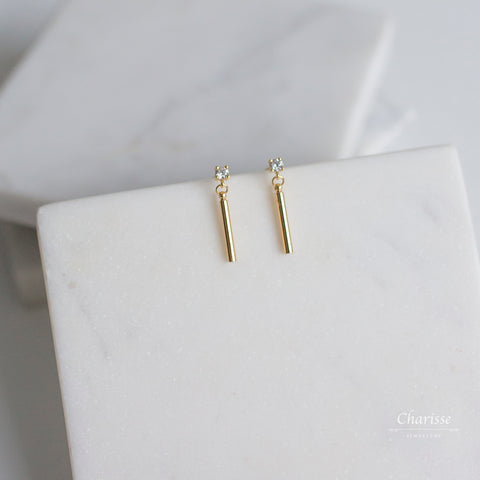 Vivian Gold Bar Earrings