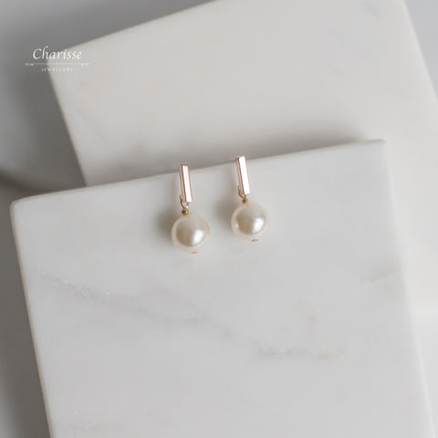 Noriko Swarovski Crystal Pearl Earrings