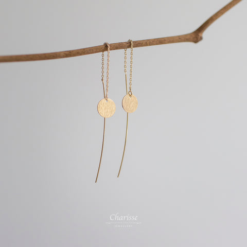 Jasmine Gold Disc Earrings