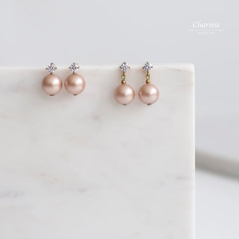Kaiya Swarovski Crystal Pearl Earrings