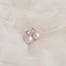 Load image into Gallery viewer, Juliette Japanese Marshmallow Pearl Earring