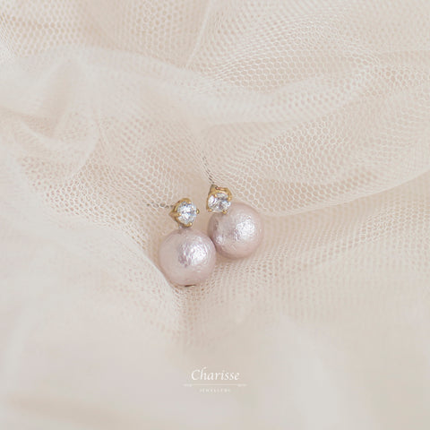Juliette Japanese Marshmallow Pearl Earring