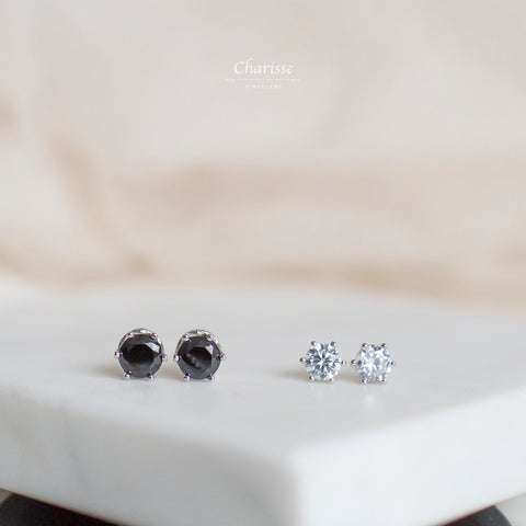 Tina Round CZ Diamond Earring
